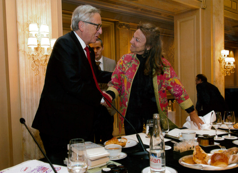 Photo Catherine Wajsman avec Jean-Claude Juncker - 7 octobre 2016